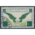 SWITZERLAND - 1933 40c blue/green Airmail on grilled paper, used – Michel # 234z