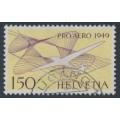 SWITZERLAND - 1949 1.50Fr violet/reddish yellow PRO AERO, used – Michel # 518b