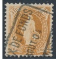 SWITZERLAND - 1902 3Fr. brown Helvetia, perf. 11½:12, oval watermark (Kz. II), used – Zum. # 72E