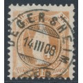 SWITZERLAND - 1907 3Fr. brown Helvetia, perf. 11½:11, crosses watermark, granite paper, used – Zum. # 100B