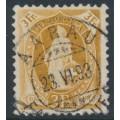 SWITZERLAND - 1891 3Fr. brown Helvetia, 'white dot between IA', used – Zumstein # 72A.2.46/I