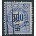 SWITZERLAND - 1882 500c blue Postage Due, granite paper, inverted frame, used – Zumstein # P14K