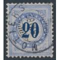 SWITZERLAND - 1882 20c blue Postage Due, granite paper, normal frame, used – Zumstein # P11N