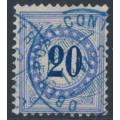 SWITZERLAND - 1882 20c blue Postage Due, granite paper, inverted frame, used – Zumstein # P11K