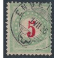 SWITZERLAND - 1883 5c red/opal-green Postage Due, inverted frame, used – Zumstein # P17AK