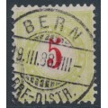 SWITZERLAND - 1887 5c red/yellow-green Postage Due, inverted frame, used – Zumstein # P17CK