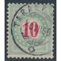 SWITZERLAND - 1883 10c red/opal-green Postage Due, inverted frame, used – Zumstein # P18AK