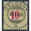 SWITZERLAND - 1887 10c red/yellow-green Postage Due, normal frame, used – Zumstein # P18CN
