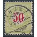 SWITZERLAND - 1884 50c red/pale green Postage Due, inverted frame, used – Zumstein # P20BK