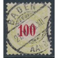 SWITZERLAND - 1887 100c red/yellow-green Postage Due, inverted frame, used – Zumstein # P21CK
