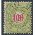 SWITZERLAND - 1889 100c red/deep yellowish green Postage Due, normal frame, used – Zumstein # P21DN