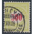 SWITZERLAND - 1887 500c red/yellow-green Postage Due, normal frame, used – Zumstein # P22CN
