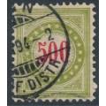 SWITZERLAND - 1892 500c red/greenish olive Postage Due, inverted frame, used – Zumstein # P22DbK
