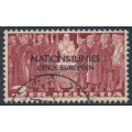 SWITZERLAND - 1950 3Fr red-brown Definitive o/p NATIONS UNIES (UNO), used – Michel # DVN18