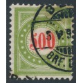 SWITZERLAND - 1897 500c red/olive-green Postage Due, normal frame, used – Zumstein # P22FN