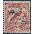 NEW GUINEA - 1932 2/- dull lake Bird of Paradise, no dates, overprinted AIR MAIL, used – SG # 200