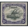 PAPUA / BNG - 1907 2d black/violet Lakatoi, vertical watermark, o/p small Papua, MH – SG # 40