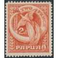 PAPUA / BNG - 1932 2d red Bird of Paradise, mint hinged – SG # 133