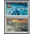 AUSTRALIA / AAT - 1971 Anniversary of the Antarctic Treaty set of 2, MNH – SG # 19-20