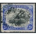 PAPUA / BNG - 1901 2½d black/ultramarine Lakatoi, horizontal rosettes, used – SG # 4