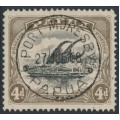 PAPUA / BNG - 1907 4d black/sepia Lakatoi, perf. 12½, small PAPUA, used – SG # 57