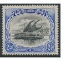 PAPUA / BNG - 1901 2½d black/ultramarine Lakatoi, vertical rosettes watermark, MH – SG # 12