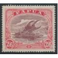 PAPUA / BNG - 1927 2/6 maroon/bright pink Lakatoi, perf. 14, sideways crown A watermark, MH – SG # 103a