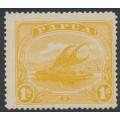 PAPUA / BNG - 1911 1/- yellow Lakatoi, sideways crown A watermark, MH – SG # 90