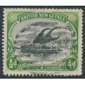 PAPUA / BNG - 1901 ½d black/yellow-green Lakatoi, horizontal rosettes watermark, used – SG # 1