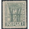 PAPUA / BNG - 1932 1/- dull blue-green Ceremonial Platform, MH – SG # 139