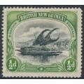 PAPUA / BNG - 1901 ½d black/yellow-green Lakatoi, vertical rosettes, line perf., MH – SG # 9