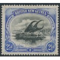 PAPUA / BNG - 1901 2½d black/ultramarine Lakatoi, vertical rosettes watermark, comb perf., MH – SG # 12