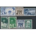AUSTRALIA / AAT - 1957-1961 complete set of 7 pre-decimals, used – SG # 1-7
