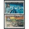 AUSTRALIA / AAT - 1971 Anniversary of the Antarctic Treaty set of 2, used – SG # 19-20