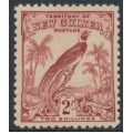 NEW GUINEA - 1932 2/- dull lake Bird of Paradise, no dates, MNH – SG # 186