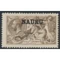 NAURU - 1919 2/6 brown Seahorses (Bradbury, Wilkinson printing) o/p NAURU, MH – SG # 24