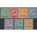 NAURU - 1916 range of GB KGV Definitives overprinted NAURU, MH – SG # 1, 2, 4, 6-9