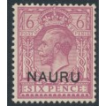 NAURU - 1916 6d purple GB KGV definitive overprinted NAURU, MH – SG # 10