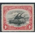 PAPUA / BNG - 1901 1d black/carmine Lakatoi, horizontal rosettes watermark, MH – SG # 2