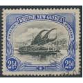 PAPUA / BNG - 1901 2½d black/ultramarine Lakatoi, horizontal rosettes watermark, used – SG # 4