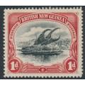 PAPUA / BNG - 1901 1d black/carmine Lakatoi, vertical rosettes watermark, MH – SG # 10