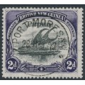 PAPUA / BNG - 1907 2d black/violet Lakatoi, vertical watermark, o/p small Papua, used – SG # 40