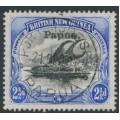 PAPUA / BNG - 1907 2½d black/ultramarine Lakatoi, vertical watermark, o/p small Papua, used – SG # 41