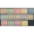 NAURU - 1937-1948 ½d to 10/- Freighter set of 14 (shiny paper), CTO – SG # 26Bc-39B