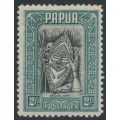 PAPUA / BNG - 1932 2/- black/slate-green Papuan Art, MH – SG # 141