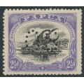 PAPUA / BNG - 1910 2½d black/blue-violet Lakatoi, perforated OS, MH – SG # O32