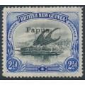 PAPUA / BNG - 1907 2½d black/ultramarine Lakatoi, horizontal rosettes, o/p small Papua, MH – SG # 35a
