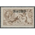NAURU - 1916 2/6 pale brown Seahorses (De La Rue printing) o/p NAURU, MH – SG # 21