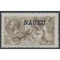 NAURU - 1919 2/6 pale brown Seahorses (Bradbury, Wilkinson printing) o/p NAURU, MH – SG # 25