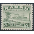 NAURU - 1937 2/6 grey-green Freighter on shiny paper, MNH – SG # 37B